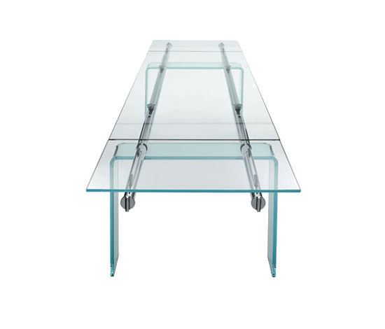 Stilt Glass extendable table by Desalto | Meeting room tables