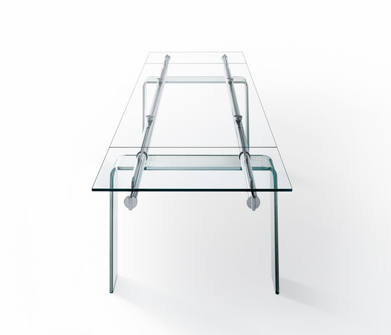 Stilt Glass extendable table von Desalto | Besprechungstische