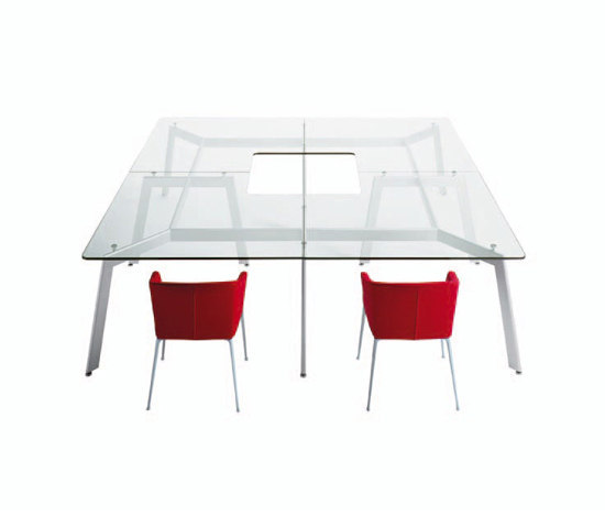 Link by desalto round table modular table product for Modular dining table