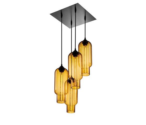 Pack - 4 Modern Chandelier by Niche   Suspended lights