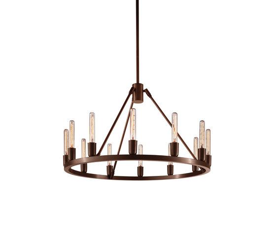 Spark 24 Modern Chandelier by Niche | Ceiling suspended chandeliers
