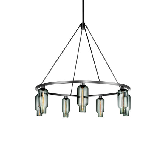 Sola 48 Modern Chandelier by Niche | Ceiling suspended chandeliers