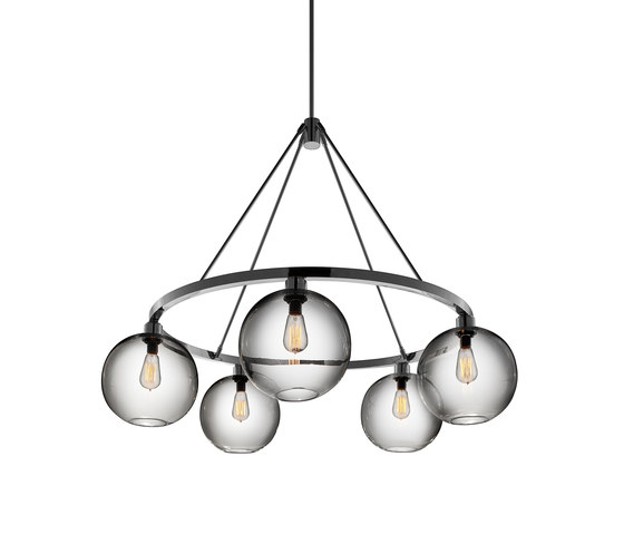 Sola 36 Modern Chandelier by Niche | Ceiling suspended chandeliers