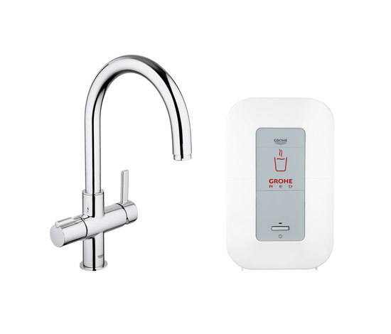 GROHE Red Duo faucet & single boiler by GROHE | Kitchen taps
