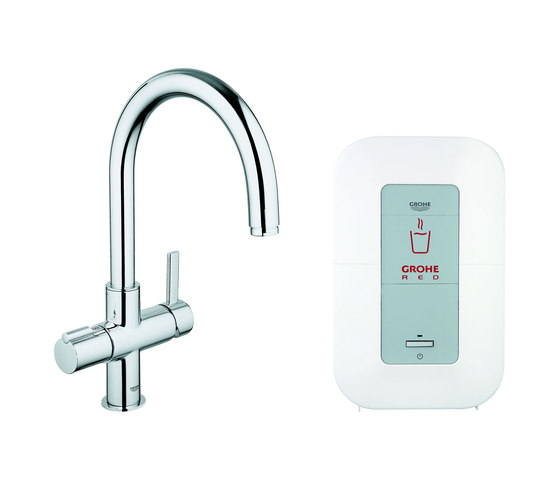 GROHE Red Duo Faucet and single-boiler by GROHE | Kitchen taps