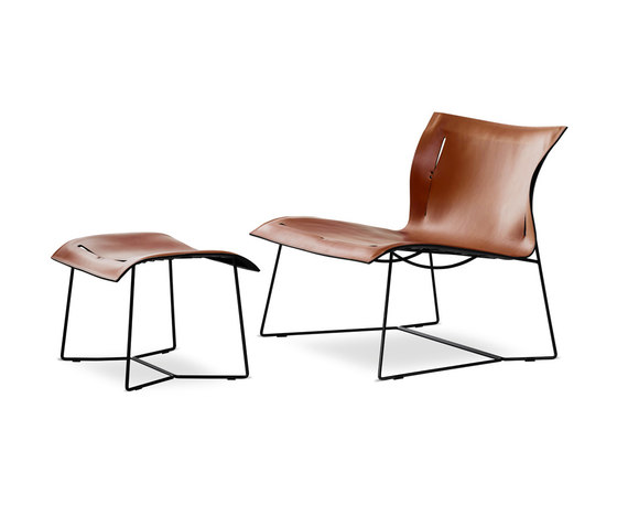 Cuoio Lounge armchair | stool di Walter Knoll | Poltrone