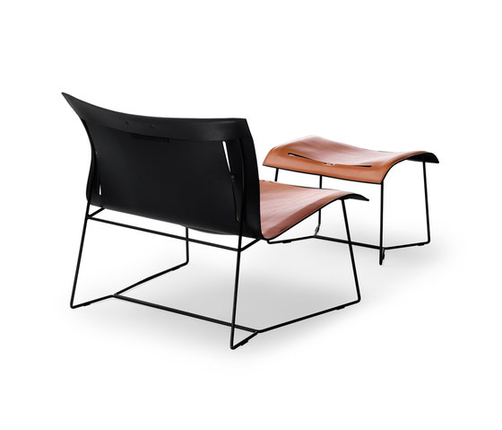 Cuoio Lounge armchair | stool de Walter Knoll | Sillones