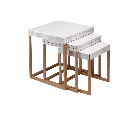 Trio Tables di EX.T | Pouf