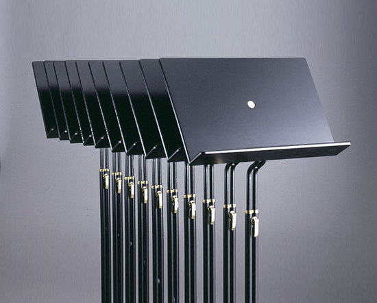 MUSIC STAND without light by Okholm Lighting | Orchesteral furniture