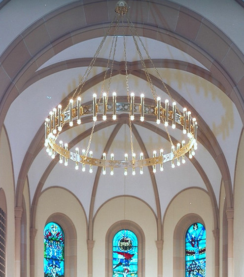 CHURCH OF WETTINGEN chandelier di Okholm Lighting | Lampadari a corona