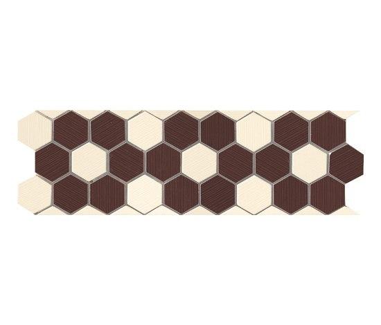 Visionary Esagono Beige Marrone Mosaico Listello* by Fap Ceramiche | Mosaics