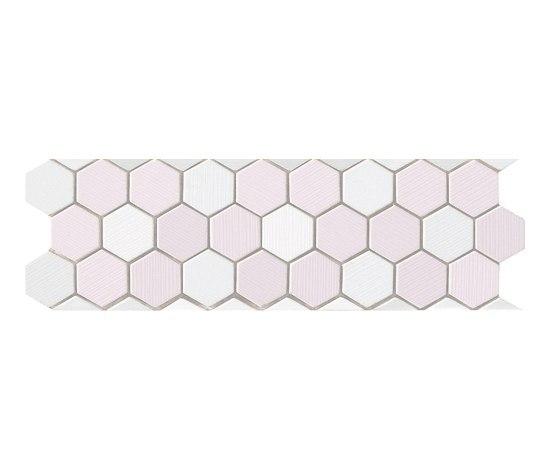 Visionary Esagono Bianco Rosa Mosaico Listello* di Fap Ceramiche | Mosaici