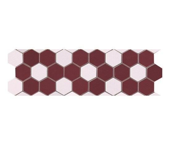 Visionary Esagono Bord Rosa Mosaico Listello* by Fap Ceramiche | Ceramic mosaics