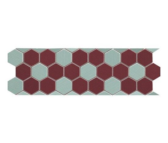 Visionary Esagono Rosa Verd Mosaico Listello* di Fap Ceramiche | Mosaici