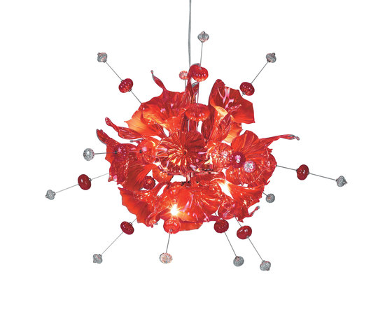 Kumulus 120 Chandelier red by Bsweden | General lighting