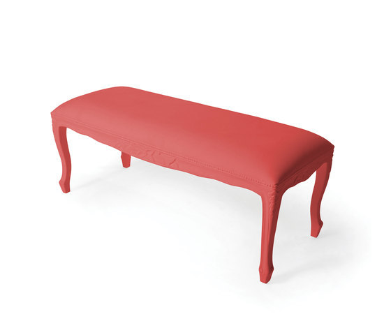 Plastic Fantastic large bench soft pink by JSPR | Garden benches