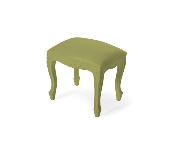 Plastic Fantastic small bench lime by JSPR | Poufs
