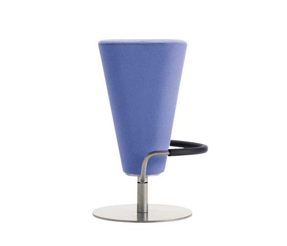 Tau Swivel Stool w/Footrest by Segis | Bar stools
