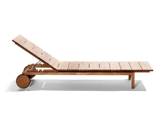 Kos Teak Adjustable Lounger by Tribù | Sun loungers