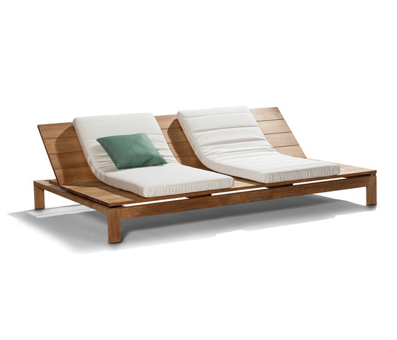 Kos Teak Adjustable Daybed by Tribù | Sun loungers