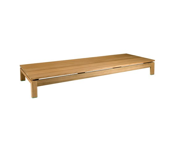 Kos Teak Daybed Footrest by Tribù | Sun loungers