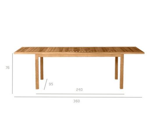 Pure Extendable table de Tribù | Mesas de comedor de jardín
