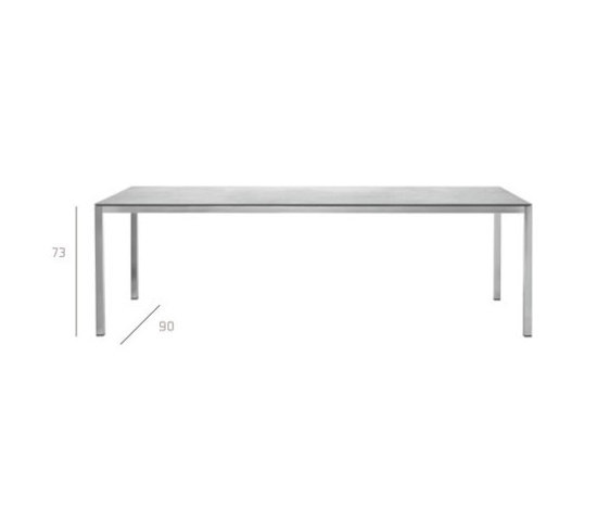 Natal Inox Table by Tribù | Dining tables