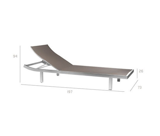 Mystral Lounger by Tribù | Sun loungers