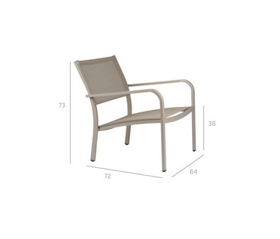 Picass Easy chair di Tribù | Poltrone da giardino
