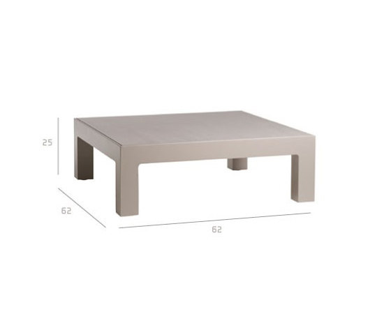 Natal Alu Coffee Table by Tribù | Coffee tables