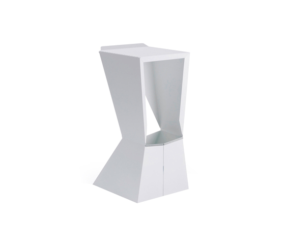 H 885 Origami white by Hansen | Bar stools