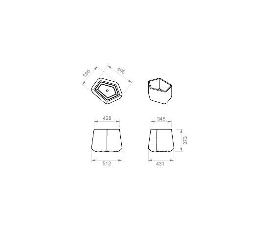 Rock Garden - Pot Modulaire - Small de Qui est Paul? | Maceteros