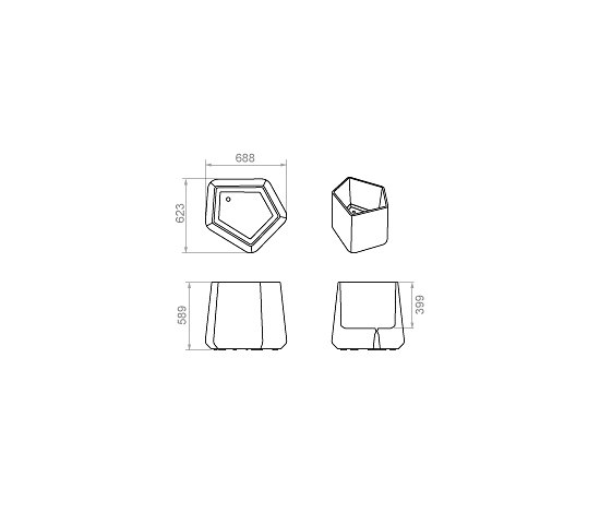 Rock Garden - Pot Modulaire - Medium by Qui est Paul? | Flowerpots / Planters