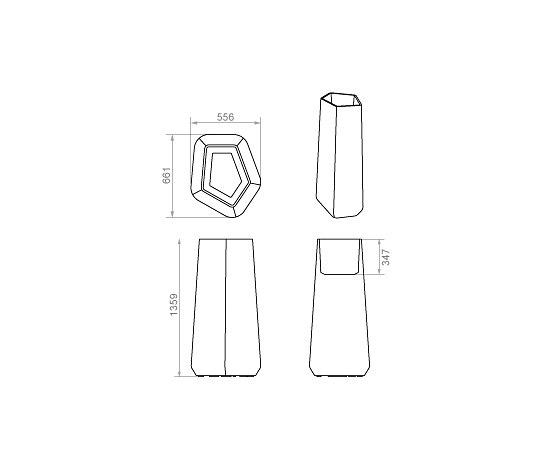 Rock Garden - Pot Modulaire - Tall by Qui est Paul? | Flowerpots / Planters