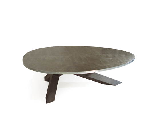 Crosstable 3-Beam Zinc by ZinX | Restaurant tables