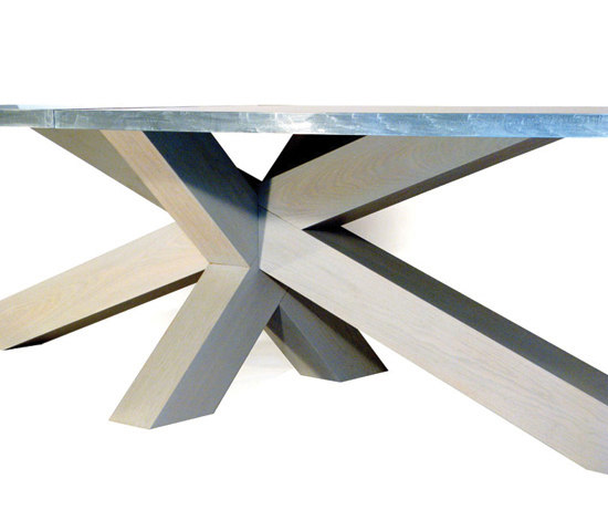 Crosstable 4-Beam Zinc by ZinX | Restaurant tables