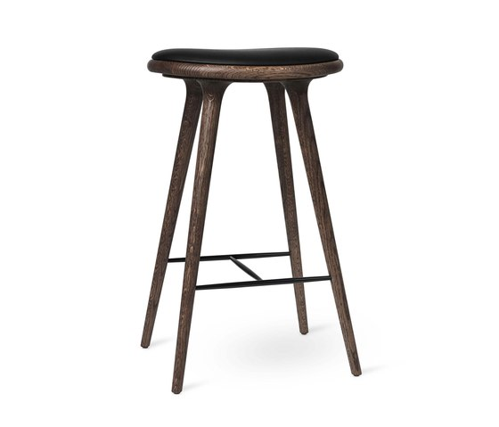 High Stool - Dark Stained Oak - 74 cm by Mater | Bar stools