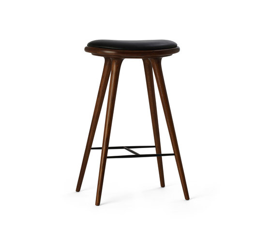 High Stool dark stained oak 74 by Mater | Bar stools
