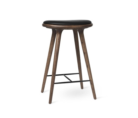 High Stool - Dark Stained Oak - 69 cm by Mater   Bar stools