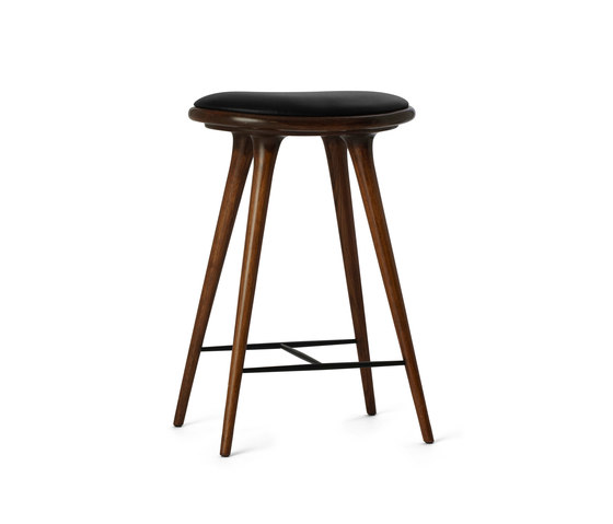 High Stool dark stained oak 69 by Mater | Bar stools
