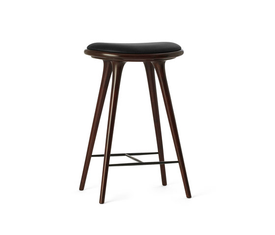 High Stool dark stained hardwood 69 de Mater | Tabourets de bar