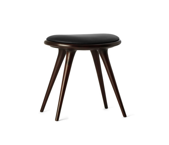 Low Stool dark stained hardwood 47 by Mater | Ottomans
