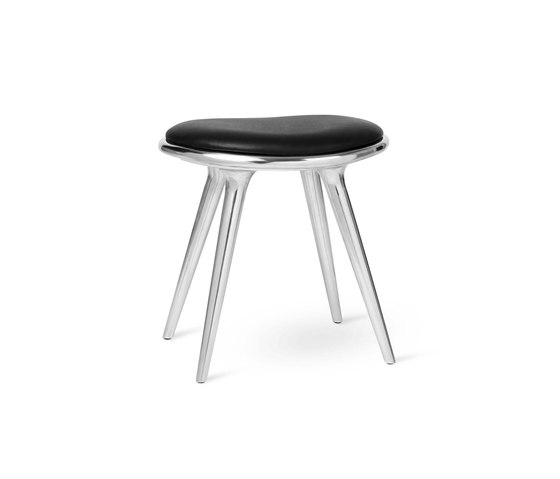 Low Stool - Partly Recycled Aluminium - 47 cm by Mater | Stools
