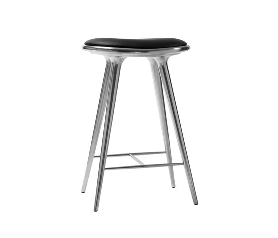 High Stool recycled aluminum 69 de Mater | Tabourets de bar