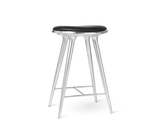 High Stool - Partly Recycled Aluminium - 69 cm by Mater   Bar stools