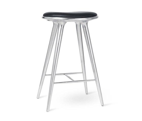 High Stool - Partly Recycled Aluminium - 74 cm von Mater | Barhocker