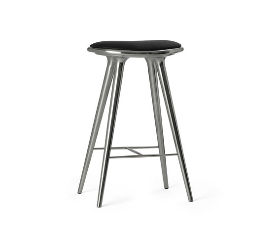 High Stool recycled aluminum 74 de Mater | Tabourets de bar