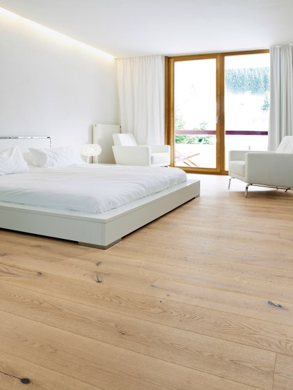 OAK Country wide-plank brushed | white oil by mafi | Wood flooring