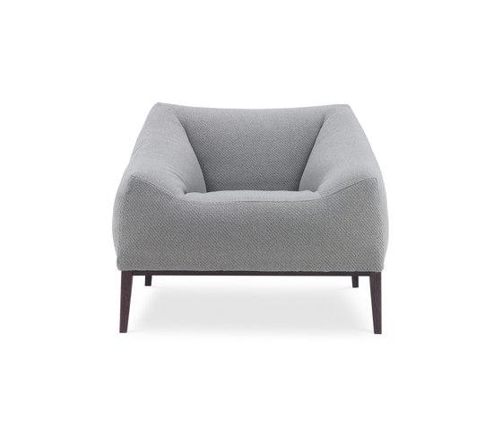 Carmel armchair by Poliform | Lounge chairs