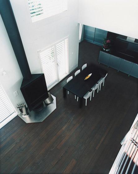 Frassino Vulcano Scuro spazzolato | olio bianco di mafi | Pavimenti in legno